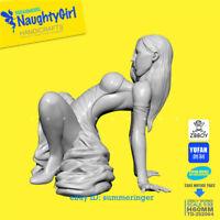 1/32 Naught Girl In Dress Figure Resin Model Kits Unpainted YUFAN Model TD-2020