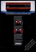 1979 Bose Spatial Control receiver photo vintage print ad