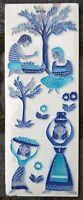 Wandbild Bild Keramik Keramikbild mediterran Midcentury 50er 60er 70er 50s 60s
