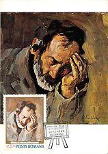 """B3085 Maximum card Cartes Maximum Romania Art S Ricci """" Pere Nic front/back scan"""