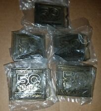 Westinghouse Defense 50 Years lot of 5 Belt Buckles NOS