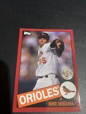 2020 Topps Mike Mussina HOF Orioles 1985 Design Red 9/10