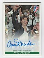 2005 WNBA Authentic Autograph Anne Donovan Seattle Storm Coach 2004 Champion RIP