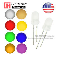 8 Lights 800pcs 5mm LED Diodes Diffused White Color Red Green Blue More Mix Kits