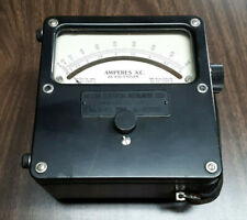 Vintage Weston Electrical Instrument Corp Model 433 Ac Ammeter Select 0 50 Amps