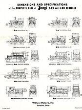 1960 Willys Kaiser Jeep 2WD 4WD CJ3B CJ5 CJ6 DJ3A DJ3B Surrey Panel FC150 FC170