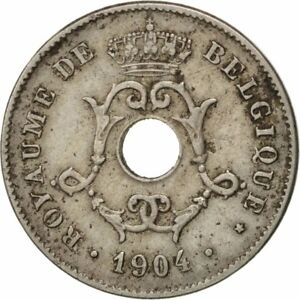 [#29389] BELGIUM, 10 Centimes, 1904, KM #52, EF(40-45), Copper-Nickel, 22, 3.91