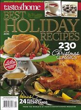 Taste Of Home Magazine Best Holiday Recipes Christmas Appetizers Desserts Entree