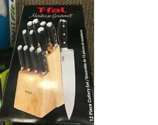 New T-Fal 84284 Heritage 12 Piece Kitchen Cutlery Knife Set & Block Sale Price