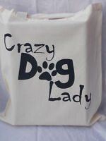 Tote Bag for crazy dog lady perfect gift idea birthday or mothers day