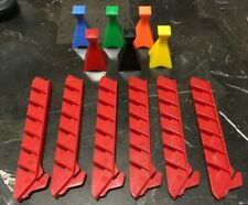 New ListingGame Parts Pieces Happiness Milton Bradley 1972 Colored Pawns & Red Stands