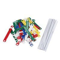 50 Pcs Bureau Ecole Reliure en plastique colore Deux-pieces Document papier O7Y5