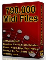 790,000 Midi Pack Collection 2020 Logic, FL Studio, Reason, Ableton Cubase Acid