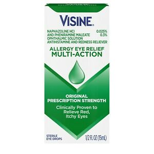 Visine Allergy Eye Relief Multi-Action Expires 3-2022