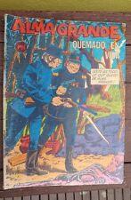 """VTG 1972 MEXICAN COMIC ALMA GRANDE-EL YAQUI JUSTICIERO No.594 """"QUEMADO EN VIDA"""""""