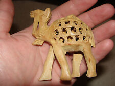 VERY RARE COLLECTABLE WOODEN CAMEL WITH BABY INSIDE