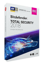 Bitdefender Total Security 2018 I 5-Devices I 3 YEARS I New Retail Key Code