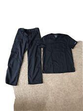 Scrubs Cherokee Workwear Revolution Men V Neck Top Small Pewter Pant Small Short