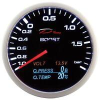 D Racing 4in1 Ladedruck Anzeige Öldruck Öltemperatur Volt gauge Multifunktion