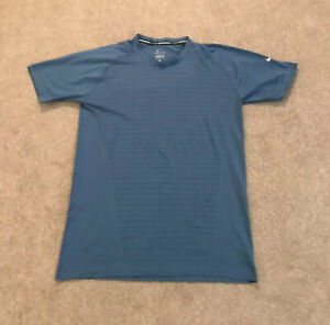 Mens NIKE Running Dri-Fit T-Shirt Turquoise Size Large- VERY GOOD CONDITION