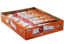 Airheads Orange Box of 36 Bars Candy Bulk Taffy Air Head Fruity Candies