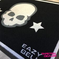 Design Fussmatte / Eazybelly / Rock / Skull  Totenkopf / Sterne / 50 cm * 70 cm