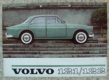 VOLVO 121/122 Car Sales Specification Leaflet Jan 1962 #RK 381.1.62.25,000