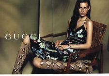 PUBLICITE ADVERTISING 025  2014  GUCCI  haute couture bottes ( 2p)