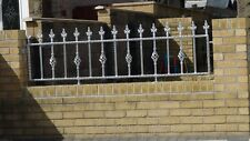 Wrought Iron railings, fabricated railings, garden railings.