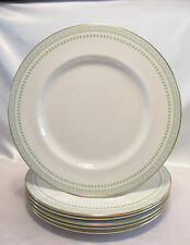 ROYAL DOULTON BERKSHIRE 6 DINNER PLATES LIMITED GOLD TRIM ENGLAND