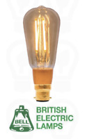 Bell Vintage B22 LED Filament Light Bulb Premium Squirrel Cage 4W Warm White