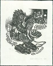 Leslie Charlotte Benenson. Owl.  Binoculars.  Gerrit Verduin  RL.818