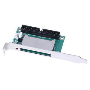 40Pin CF compact flash card to3.5 IDE converter adapter PCI bracket back p cA