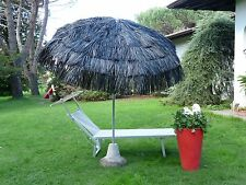 Maffei Parasol Kenya Black Art.6 Pole Central Raffia d.200 cm Made in Italy