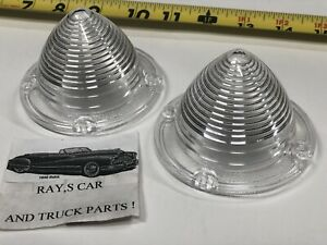NEW PAIR REPLACEMENT 58 CHEVROLET PARK LIGHT LENS NOMAD BEL AIR BISCAYNE IMPALA