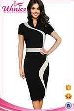 Womens pencil dress elegant modern office ladies formal wear midi dress