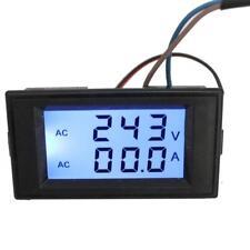 AC 80-300V 100A Digital LCD Ampere Tensione Meter voltmetro-Black