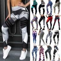 Women High Waisted Yoga Leggings Gym Fitness Pants Sports Print Running Trousers