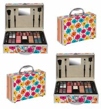 PRINTED VANITY CASE BEAUTY COSMETIC SET TRAVEL MAKE UP CARRY BOX GIRLS XMAS GIFT