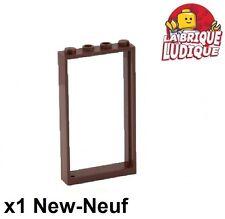 Lego - 1x Door Porte 1x4x6 frame cadre type2 marron/reddish brown 60596 NEUF