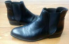 Zara Black Leather Chelsea Boots - Men Size US 8.5  EUR 42 EUC