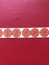 BASKETBALL Sport Grosgrain Ribbon 1 Metre X 22mm - Craft Hair Cakes