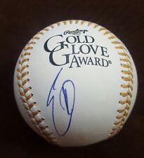 ERIC HOSMER signed Gold Glove Major league baseball KANSAS CITY ROYALS w/COA