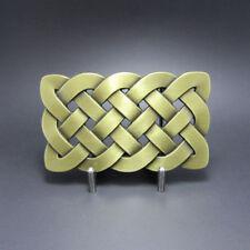 Bronze Plated Celtic Keltic Knot Western Metal Fashion Belt Buckle