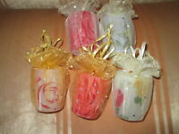 CELEBRATE  BEAUTIFUL PARTY  TIME  FLOWERS  PRINT SHOT  GLASS. SET  OF  5