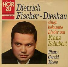 DIETRICH FISCHER DIESKAU SINGT CANCIONES DE SCHUBERT PIANO G.MOORE ESCUCHAR h614