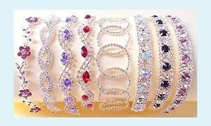 Imitation Diamond Crystal Faux Ruby Bling Party Prom Costume Jewellery Bracelet