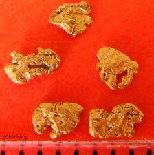 5 GOLDNUGGETS aus Alaska Goldnugget Goldbarren Münze Gold Nuggets Geschenk