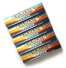 5 booklets - ELEMENTS Slim King Size ULTRA THIN RICE rolling paper