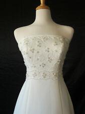 Strapless Semi-Chapel Train Casablanca Bridal Wedding Gown Dress 1704 sz 10